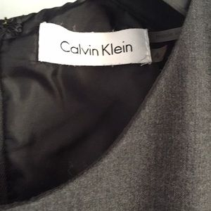 Calvin Klein Dresses - Calvin Klein grey black work dress 4 fit flare